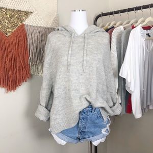 H&M Gray Pullover Hoodie